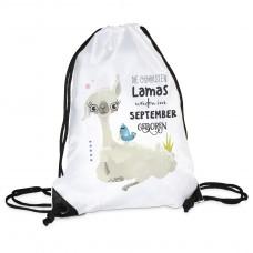 Turnbeutel - Die coolsten Lamas werden im (Monat auswählbar) geboren.