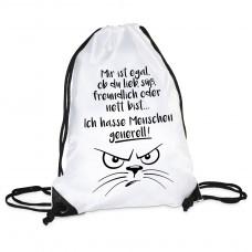 Turnbeutel - Ich hasse Menschen generell!