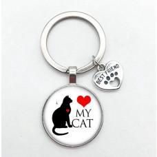 Schlüsselanhänger Love my Cat Katzenliebe Katze