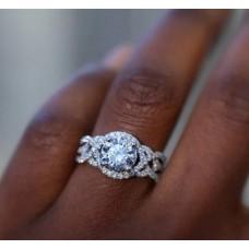 Damenring  Ring mit Strasssteinen