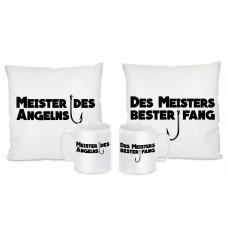 Kissen oder Tassen Set: MEISTERS DES ANGELNS / DES MEISTER BESTER FANG