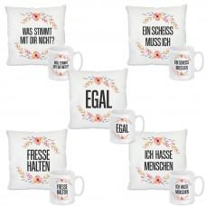Kissen oder Tasse: Verschiedene Motive zur Auswahl