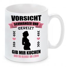 Tasse mit Motiv - Vorsichtig schwanger