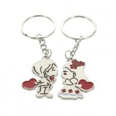 Schlüsselanhänger küssendes Paar (2 Stück)