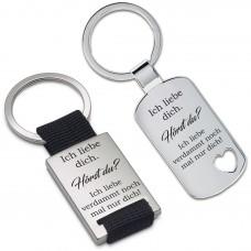 Metall Schlüsselanhänger - Ich liebe dich. Hörst du?