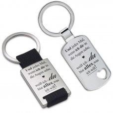 Metall Schlüsselanhänger - Und jedes Mal, wenn ich dir in die Augen sehe ...