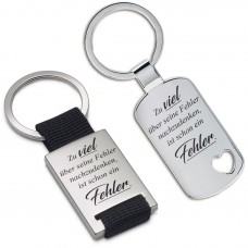Metall Schlüsselanhänger - Zu viel über seine Fehler nachzudenken ...